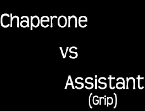 Chaperone vs Assistant aka Grip